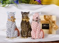 Group of Cats Herend Animal figurines - Herend fine china hand painted.