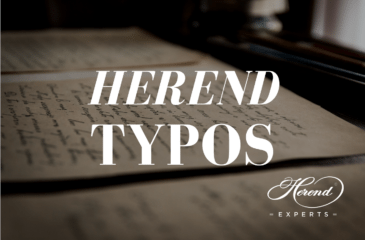 Herend Typographical Errors - Blog Post