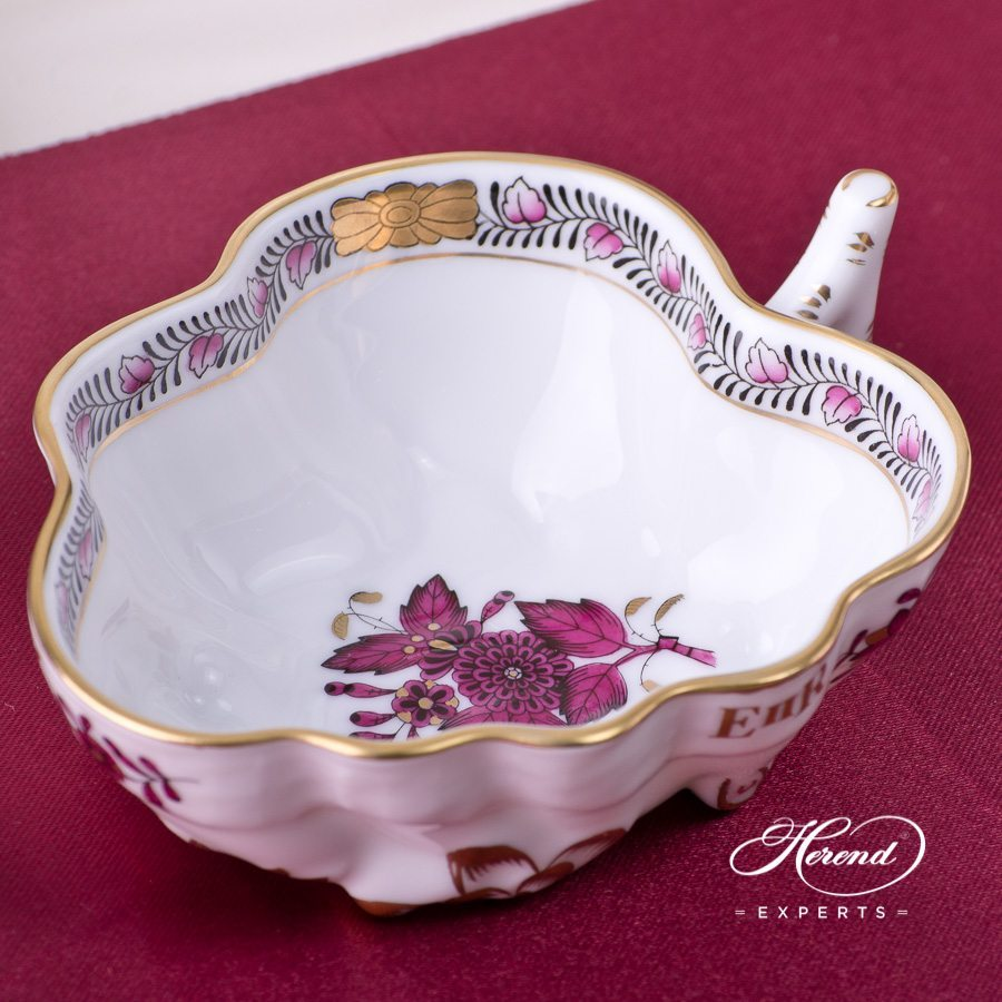 Tea Set for 2 Persons - Herend Apponyi Burgundy AP3-X1 pattern - Herend porcelain hand painted.