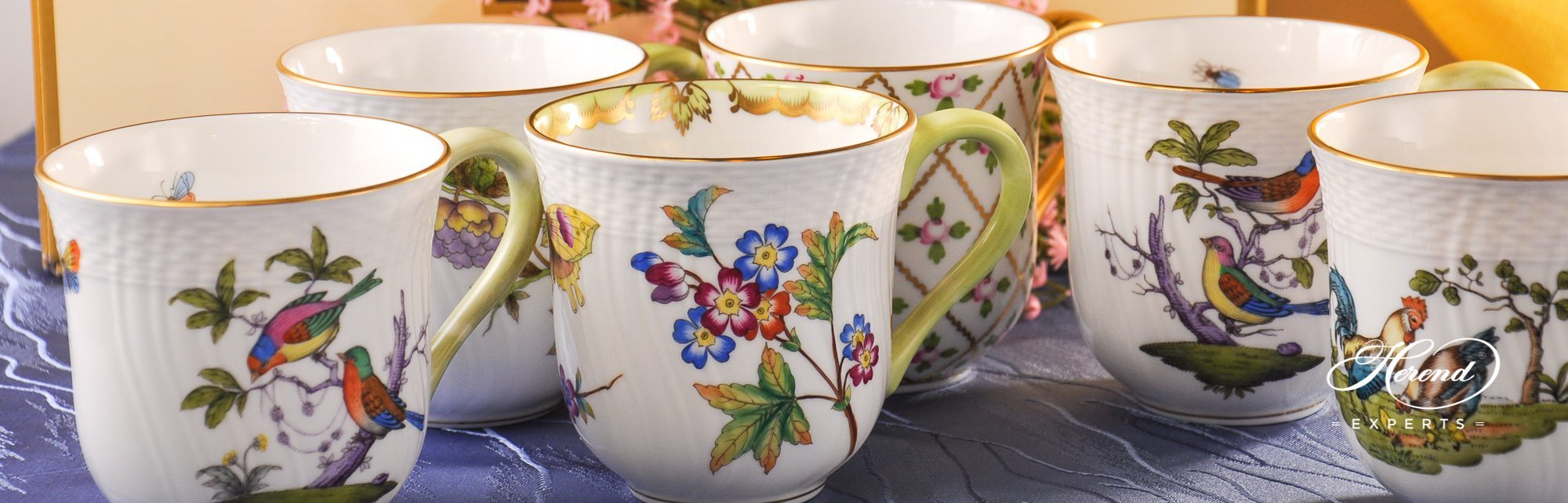 Universal Cups or Breakfast Cups - Herend Fine china