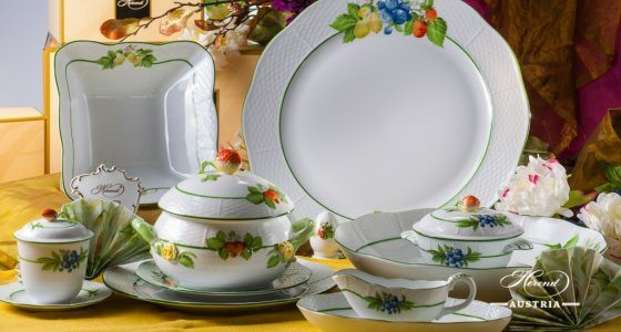 Dinner Set - Herend Berried Fruits BAC design. Herend fine china