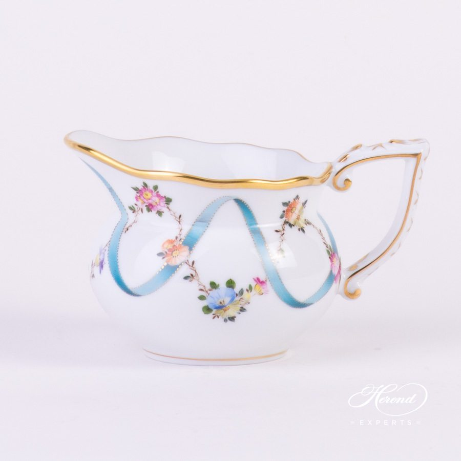 Creamer 20644-0-00 FLR Flower Garland with Ribbon decor. Herend porcelain hand painted
