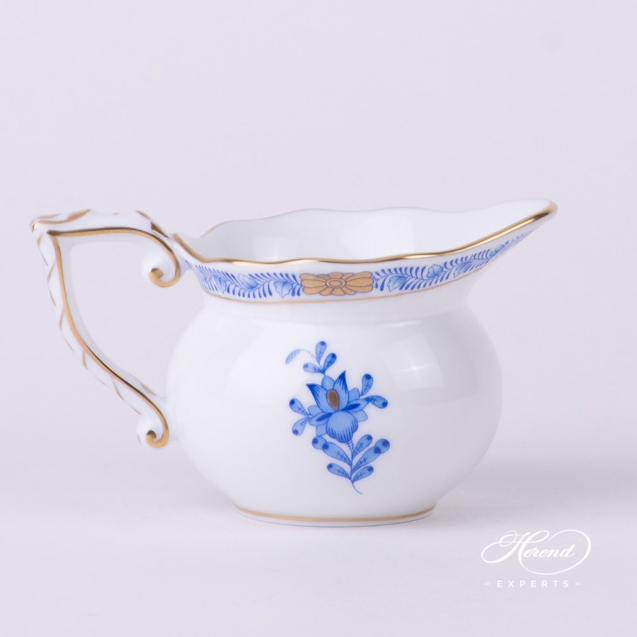 Creamer 644-0-00 AB Apponyi Blue - Chinese Bouquet pattern - Herend porcelain hand painted.