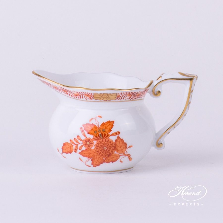 Creamer 644-0-00 AOG Chinese Bouquet / Apponyi Orange decor. Herend porcelain hand painted