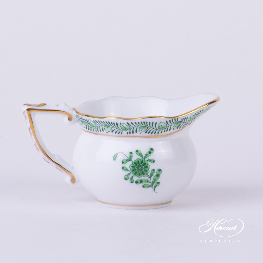 Creamer 644-0-00 AV - Chinese Bouquet Green / Apponyi Green decor. Herend porcelain hand painted