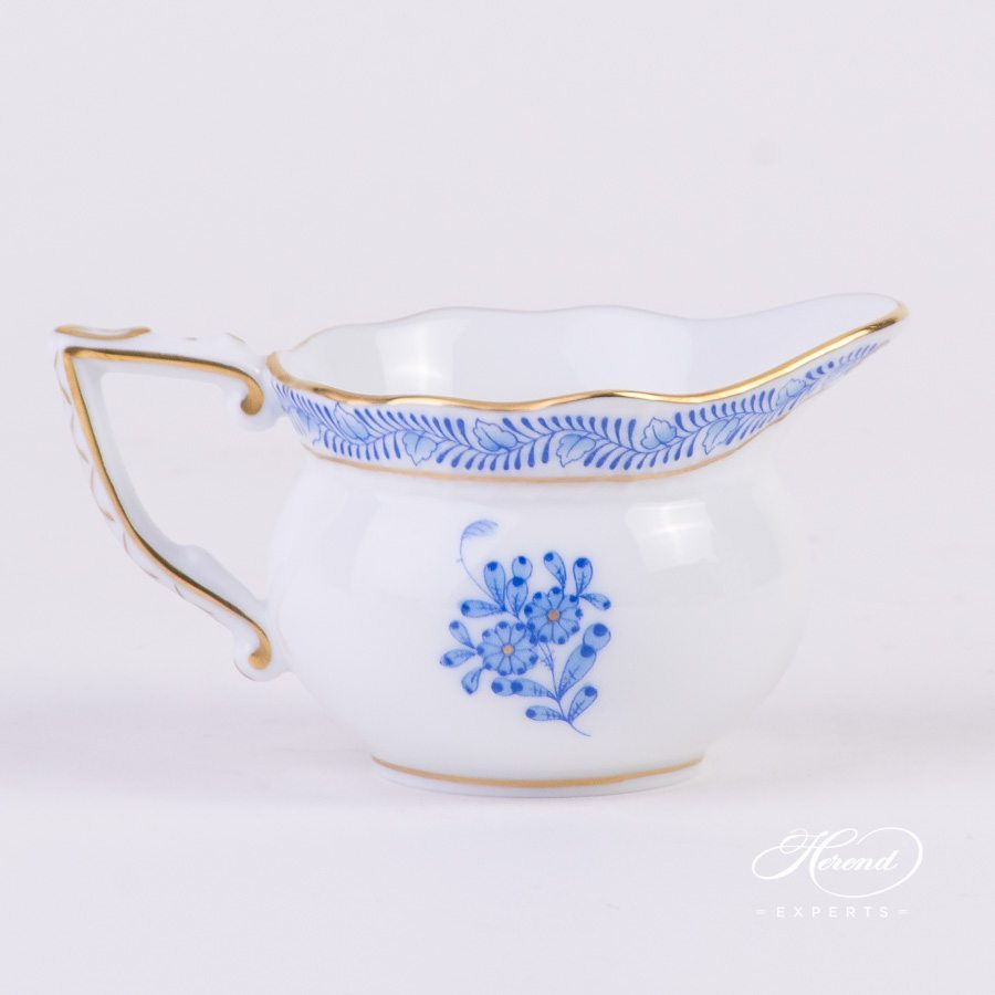 Creamer 645-0-00 AB Apponyi Blue - Chinese Bouquet pattern - Herend porcelain hand painted.