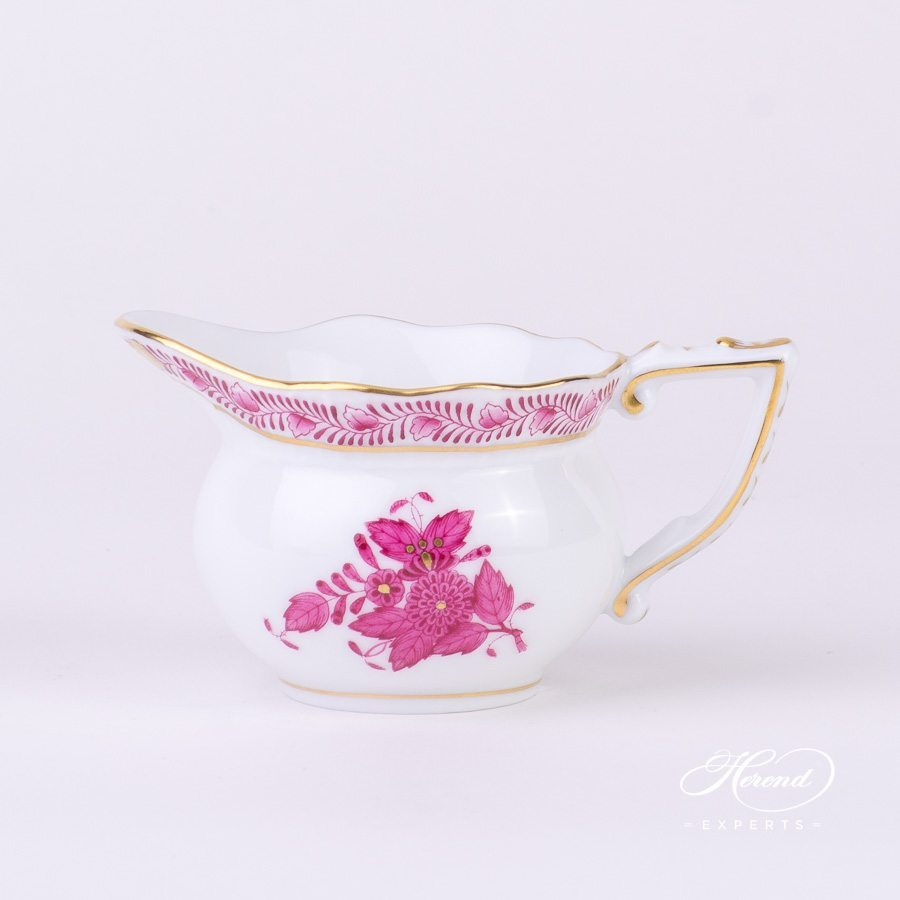 Creamer 645-0-00 AP Apponyi Pink - Chinese Bouquet pattern - Herend porcelain hand painted.