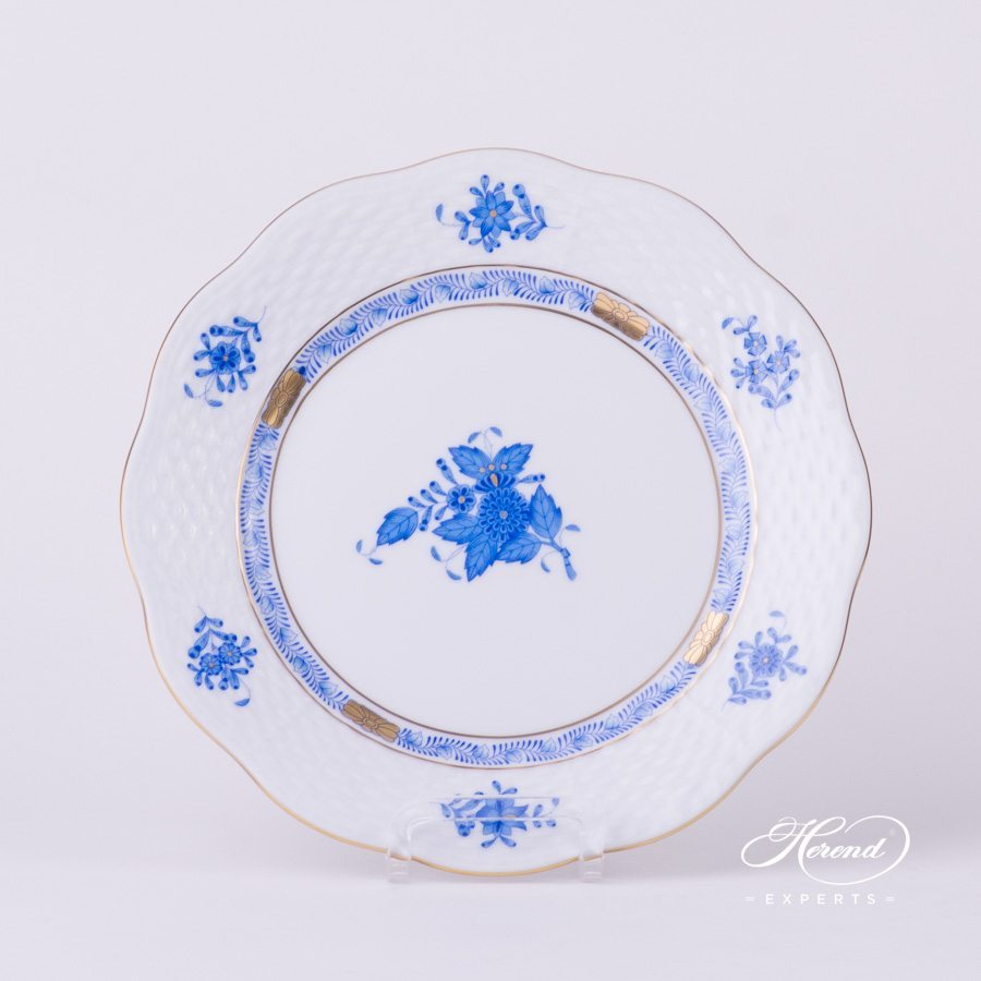 Dessert Plate 517-0-00 AB Apponyi Blue - Chinese Bouquet pattern - Herend porcelain hand painted.