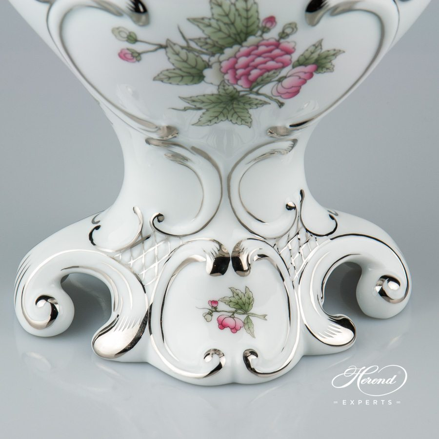 Fancy Vase 6531-0-00 VBOG-X1-PT Queen Victoria Platinum decor - Herend porcelain.