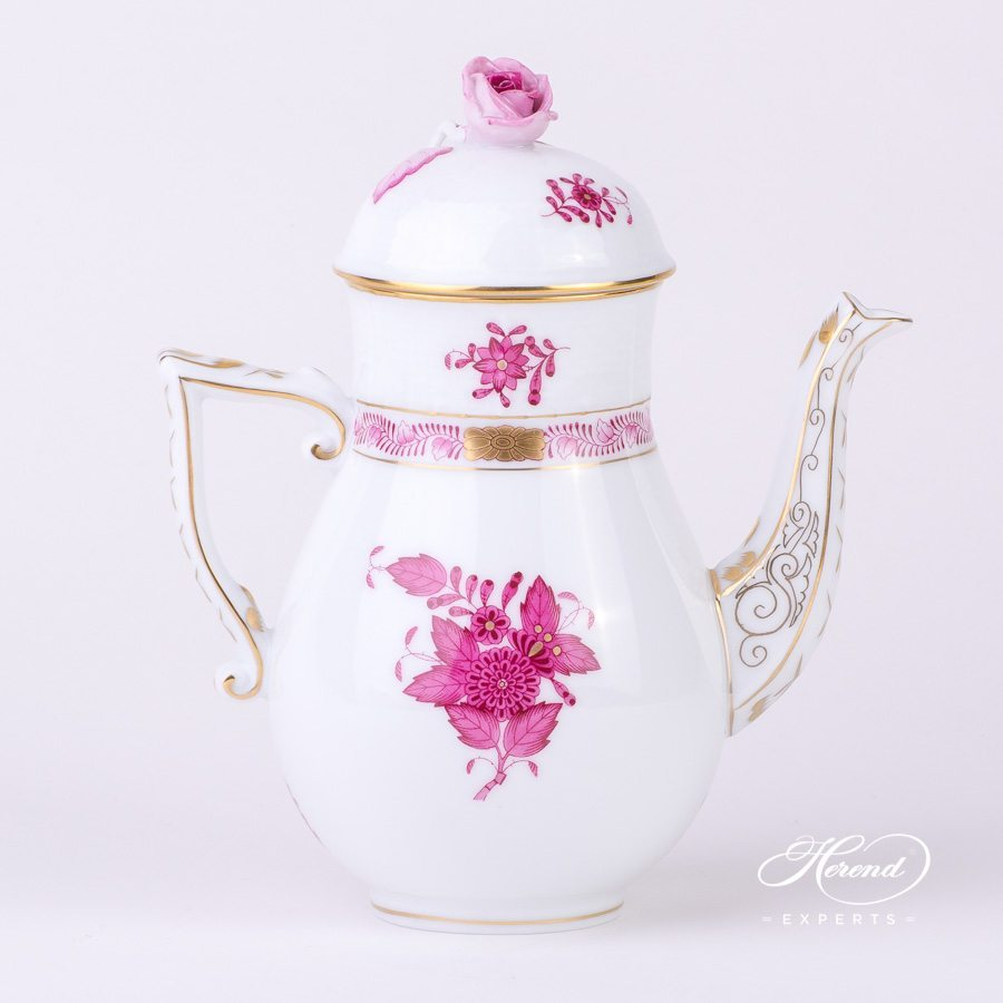 Coffee Pot or Mocha Pot 615-0-09 AP Apponyi Purple decor. Herend porcelain