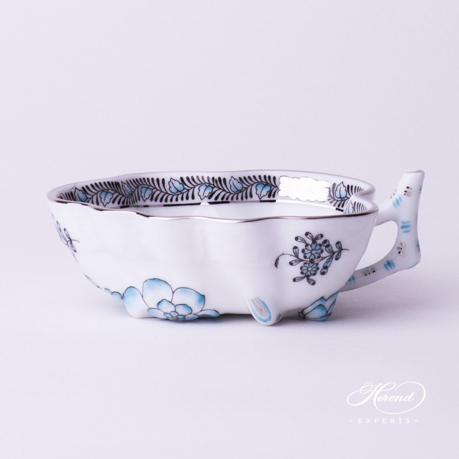 Sugar Bowl 492-0-00 ATQ3-PT Apponyi Turquoise pattern - Herend porcelain hand painted.