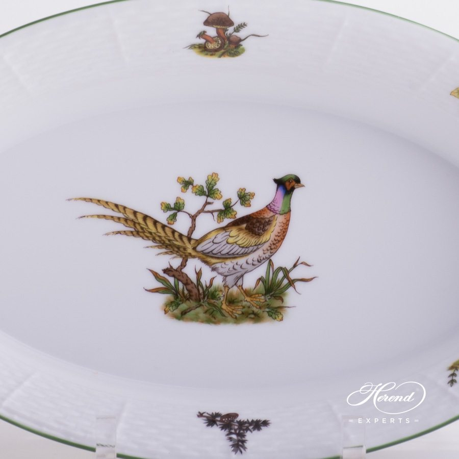 Bread Basket Hunter Trophies CHTM pattern - Herend porcelain hand painted.