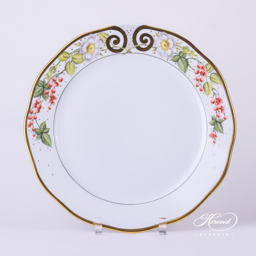 Cake Plate 20156-0-00 FEST Festival of Fruits pattern - Herend porcelain hand painted.