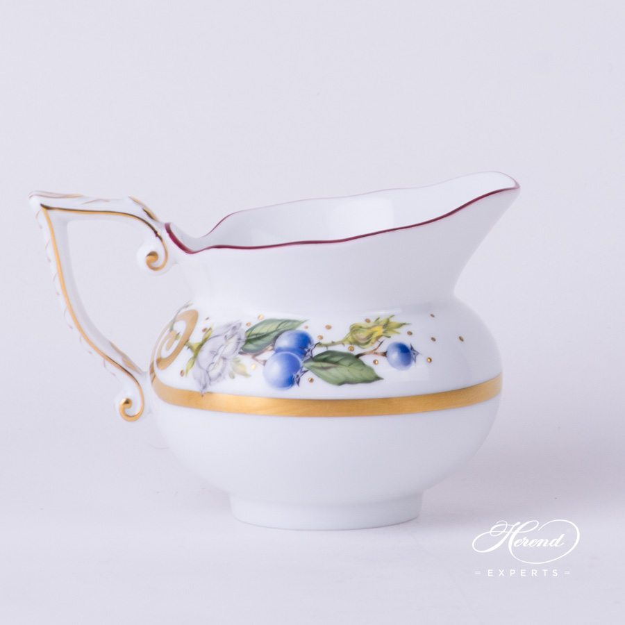 Creamer 20643-0-00 FEST Festival of Fruits pattern - Herend porcelain hand painted.