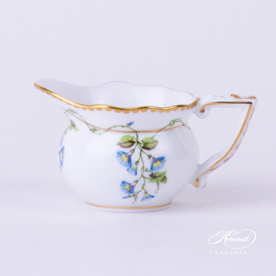 Creamer 20645-0-00 NY Nyon - Morning Glory flower pattern - Herend porcelain hand painted.