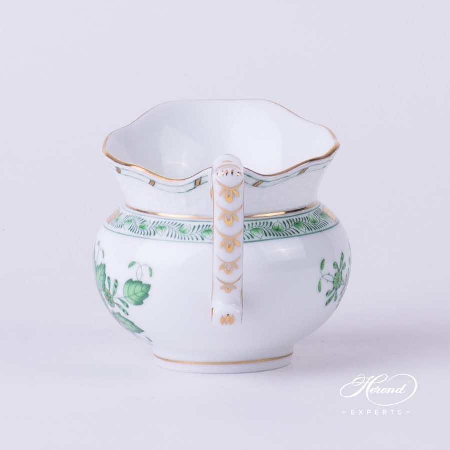 Creamer / Milk Jug 643-0-00 FV Indian Basket Green pattern. Herend fine china hand painted. Classical style tableware