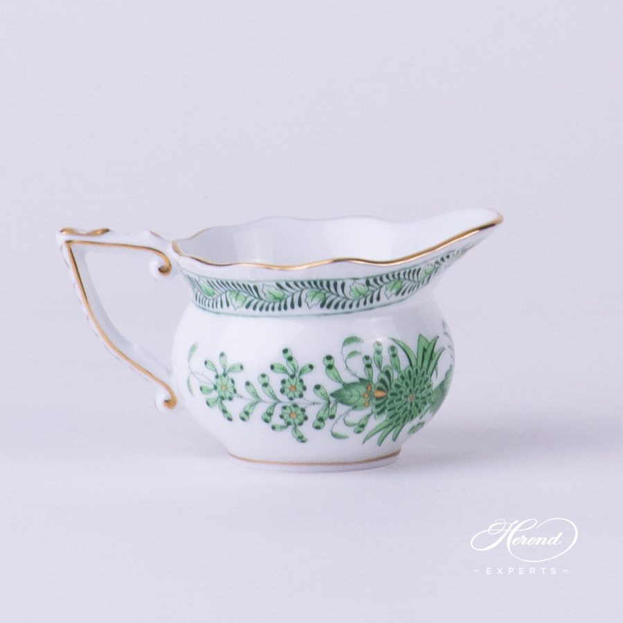 Creamer 645-0-00 FV Indian Basket Green pattern. Herend fine china hand painted. Classical style tableware