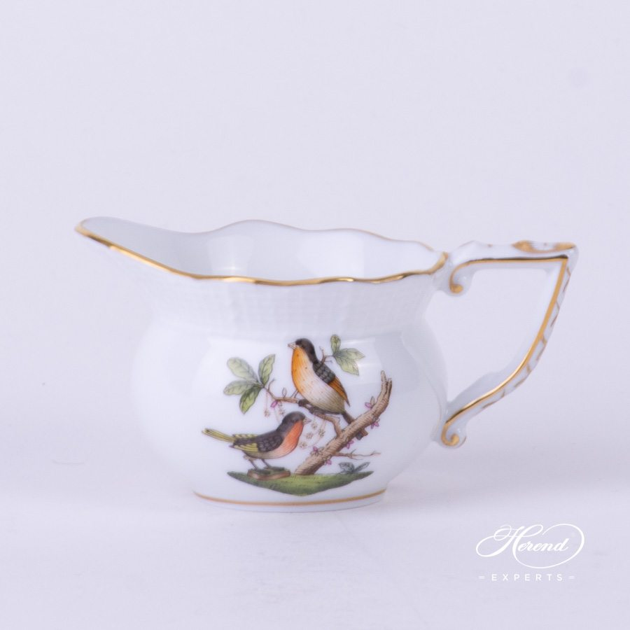 Creamer 645-0-00 RO Rothschild Bird pattern. Herend fine china tableware. Hand painted