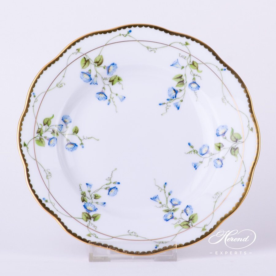 Dessert Plate 20515-0-00 NY Nyon / Morning Glory Flower pattern. Herend fine china tableware. Hand painted