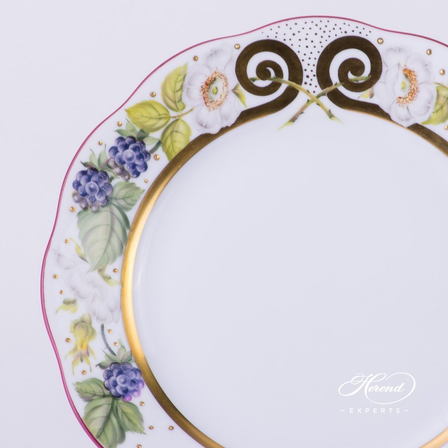 Dessert Plate 20517-0-00 FEST Festival of Fruits pattern - Herend porcelain hand painted.