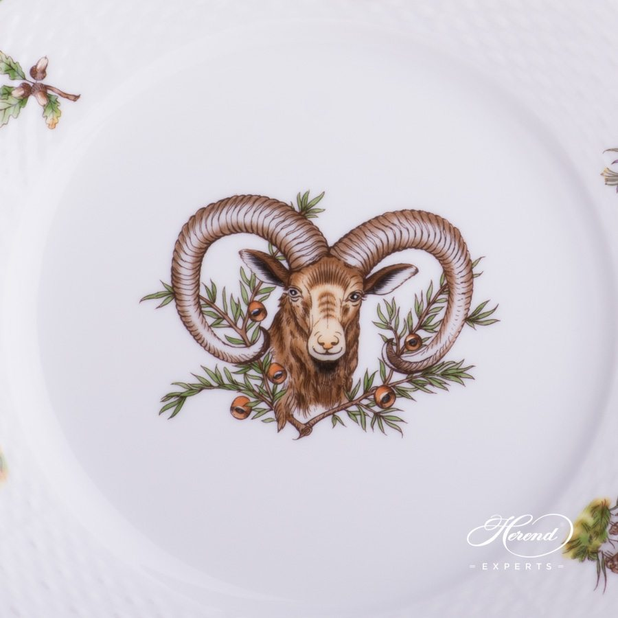 Dessert Plate Hunter Trophies CHTM pattern - Herend porcelain hand painted.