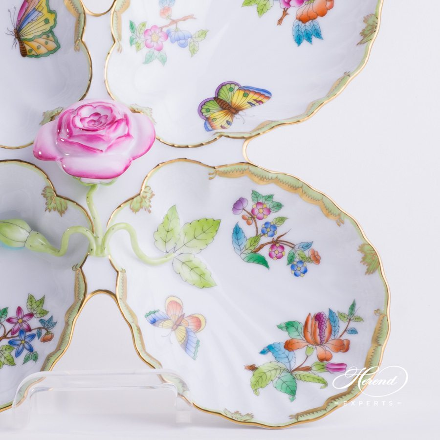 Fancy Dish Queen Victoria VBO pattern - Herend porcelain hand painted.