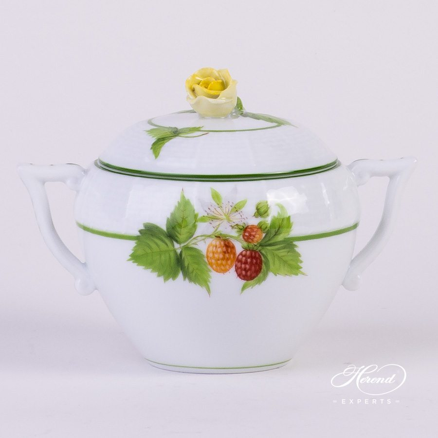 Sugar Basin Berried Fruits BAC decor - Herend porcelain hand painted.