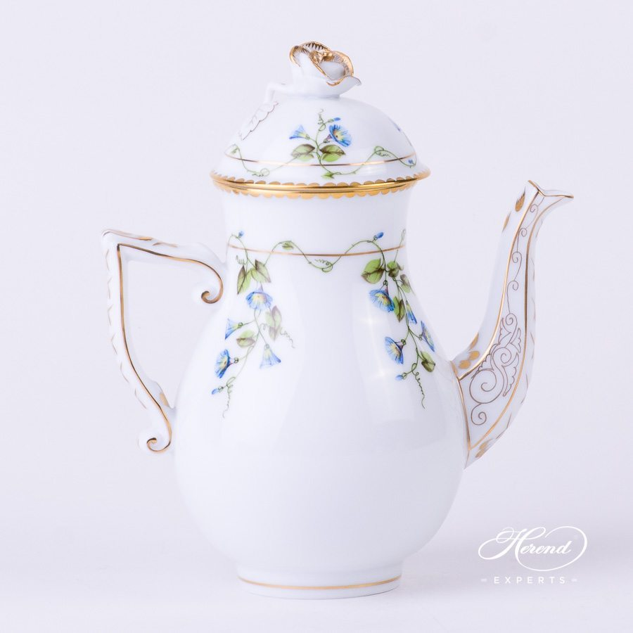 Coffee Pot 20614-0-09 NY Nyon - Morning Glory flower pattern. Herend porcelain hand painted