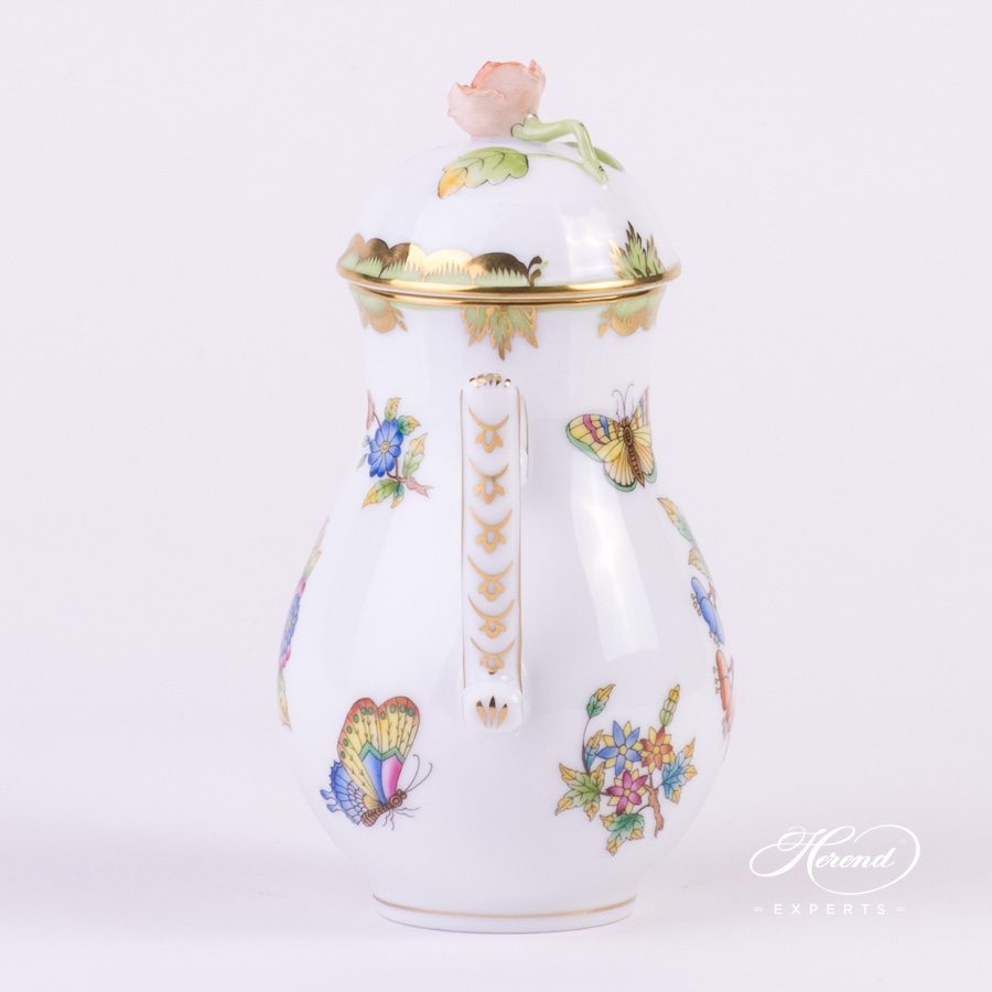 Coffee Pot 614-0-09 VBO Queen Victoria decor. Herend porcelain hand painted