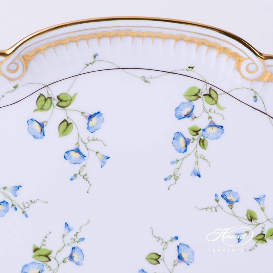 Tray with Ribbon 2400-0-00 NY Nyon - Morning Glory pattern - Herend porcelain hand painted.