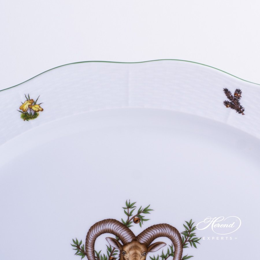 Oval Dish Hunter Trophies CHTM pattern - Herend porcelain hand painted.