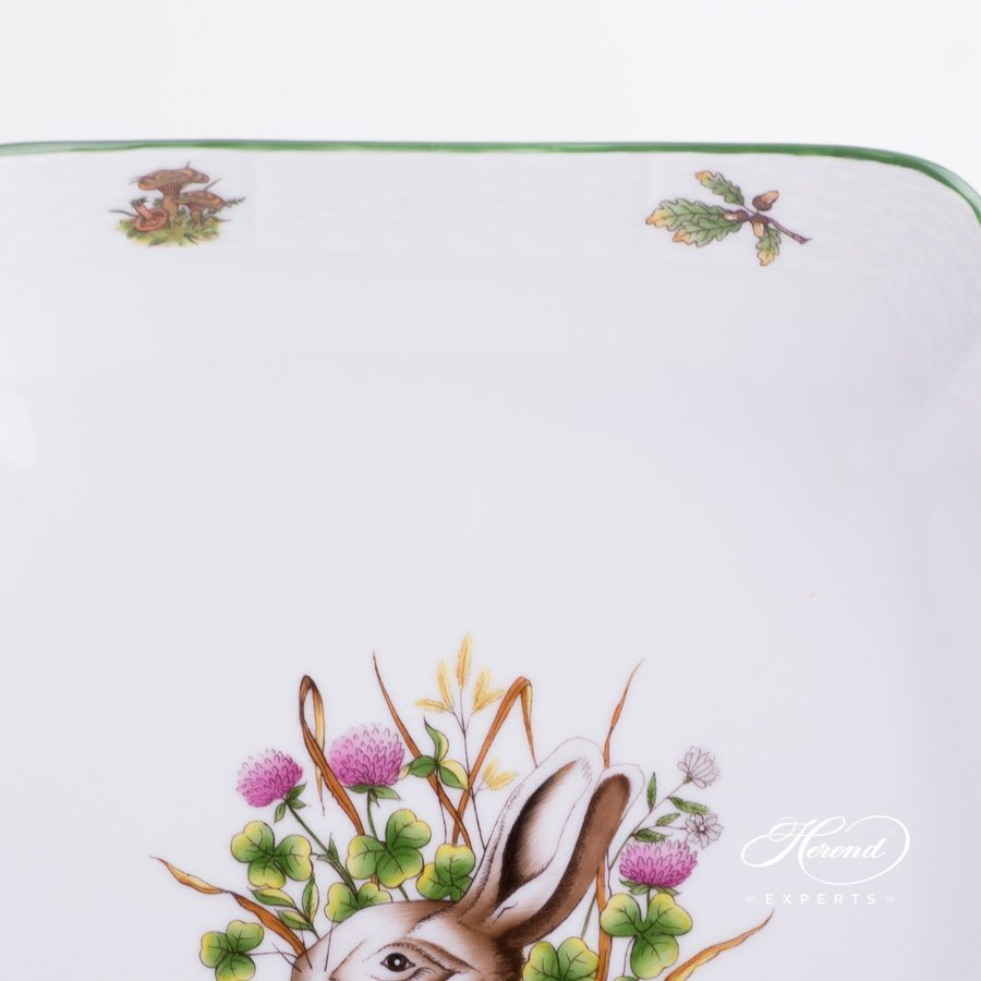Salad Dish Hunter Trophies CHTM pattern - Herend porcelain hand painted.