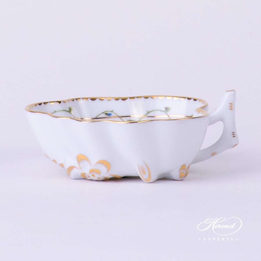 Sugar Bowl 2492-0-00 NY Nyon - Morning Glory flower pattern - Herend porcelain hand painted.