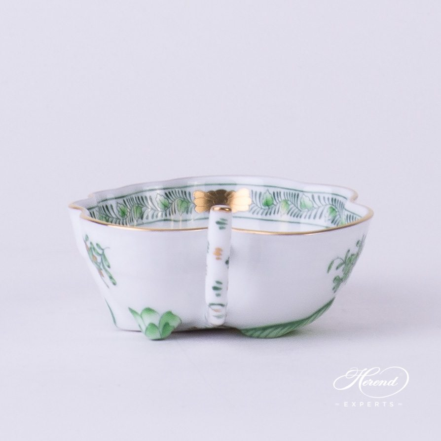 Sugar Bowl 492-0-00 FV Indian Basket Green pattern. Herend fine china hand painted. Classical style tableware