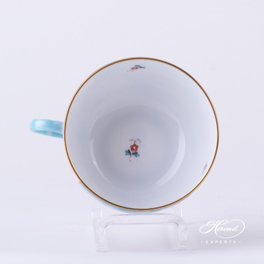 Tea Cup w. Saucer 1726-0-00 TCA Tupini pattern. Herend fine china hand painted. Luxury design