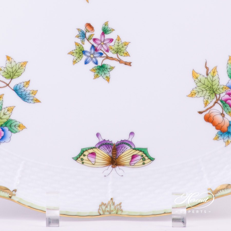 Tray Oval Queen Victoria VBO pattern - Herend porcelain hand painted.