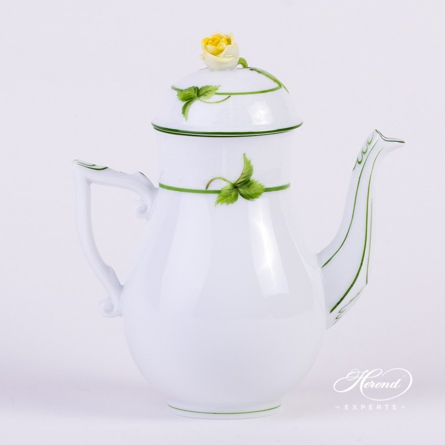 Coffee Pot with Rose Knob 613-0-09 BAC Berried Fruits pattern - Herend porcelain hand painted.