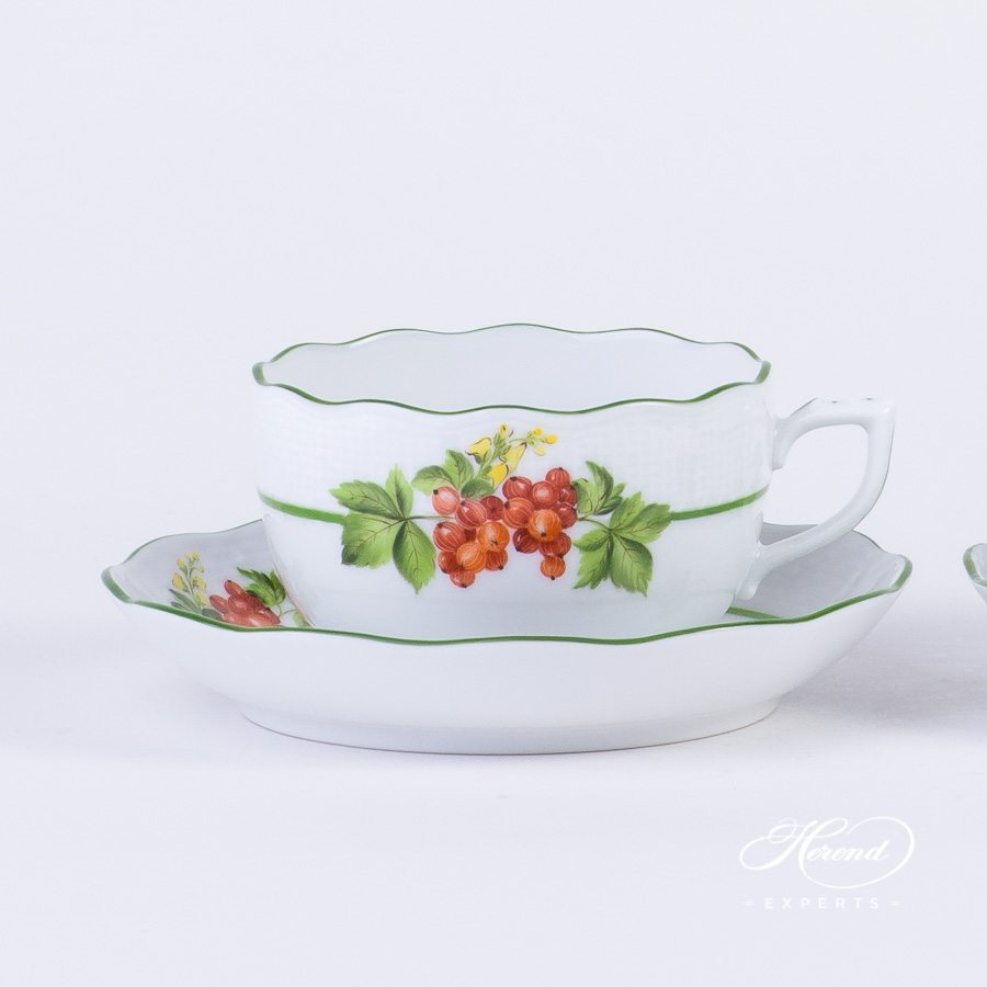 Tea Set for 4 Person - Herend Berried Fruits BAC design. Herend fine china
