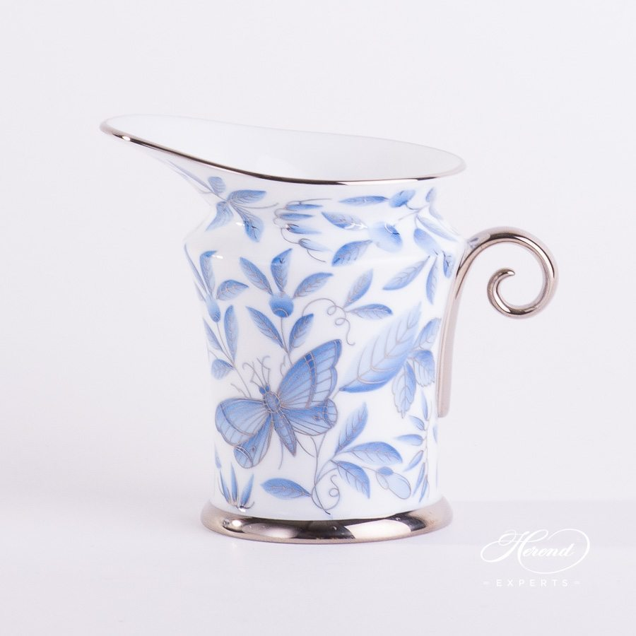 Creamer 4920-0-00 ZOBA-PT blue pattern - Herend porcelain hand painted.