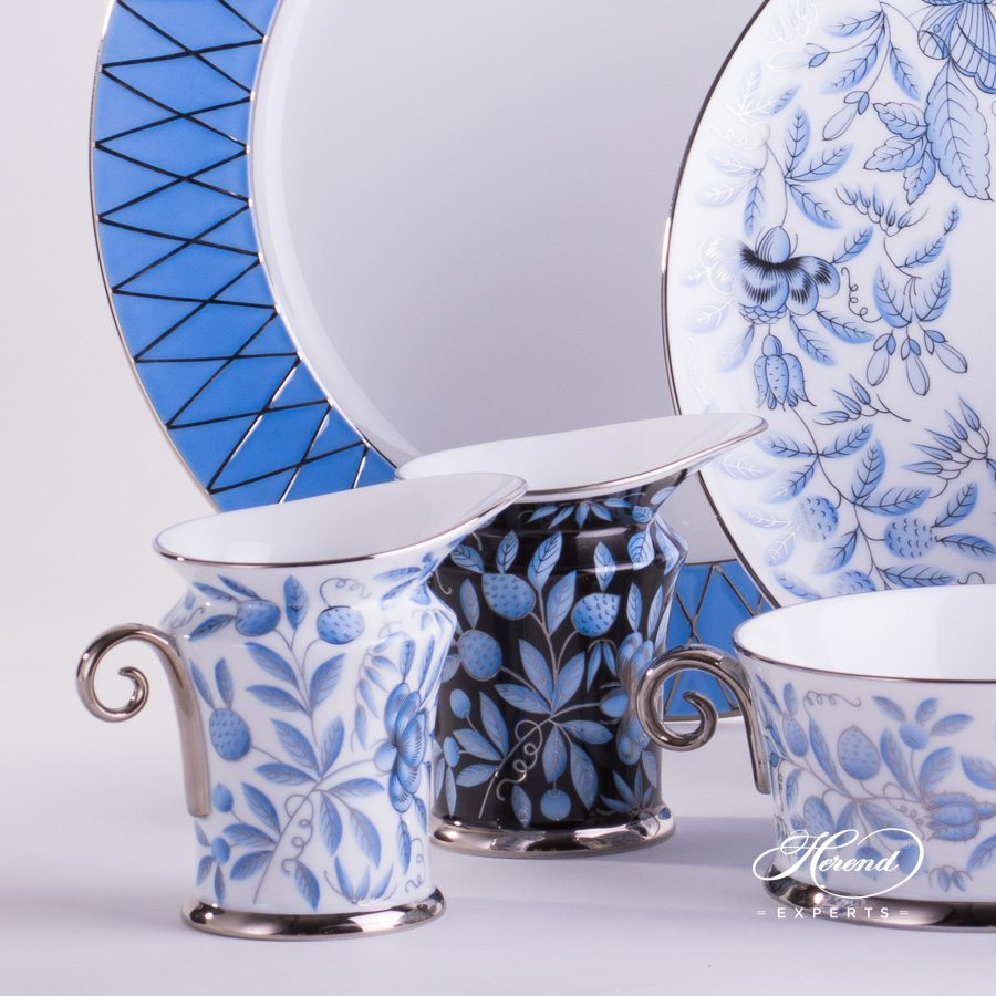 Creamer 4920-0-00 ZOBA-FN-PT and ZOBA-PT blue pattern - Herend porcelain hand painted.