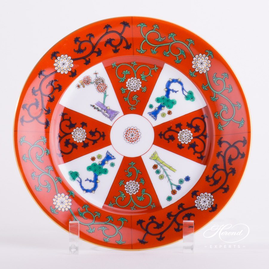 Dessert Plate 2520-0-00 G - Godollo Chinoiserie decor. Herend porcelain tableware. Hand painted