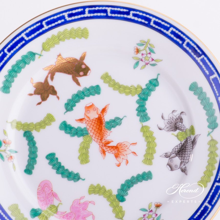 Dessert Plate 2520-0-00 PO Fishes design. Herend fine china