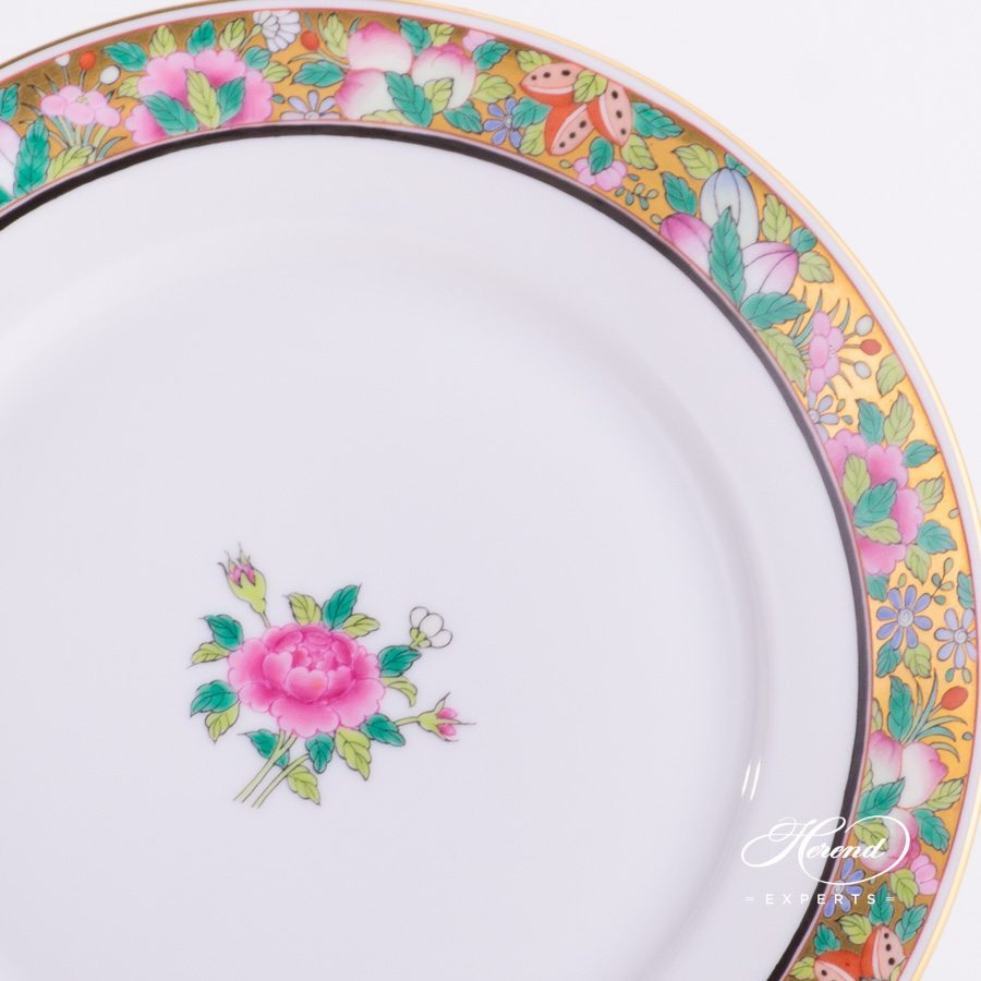 Dessert Plate 2520-0-00 ROSE-OR Rose on Gold - Oriental Style decor. Herend porcelain hand painted
