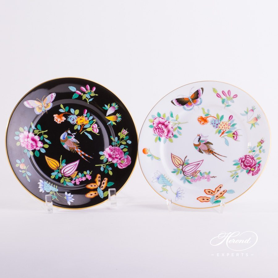 Dessert Plate 2520-0-00 SP225-FN and SP225 Luxurious Butterfly decor. Herend porcelain hand painted