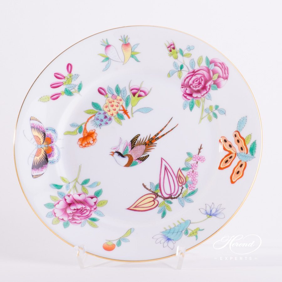 Dessert Plate 2520-0-00 SP225 Luxurious Butterfly decor. Herend porcelain hand painted