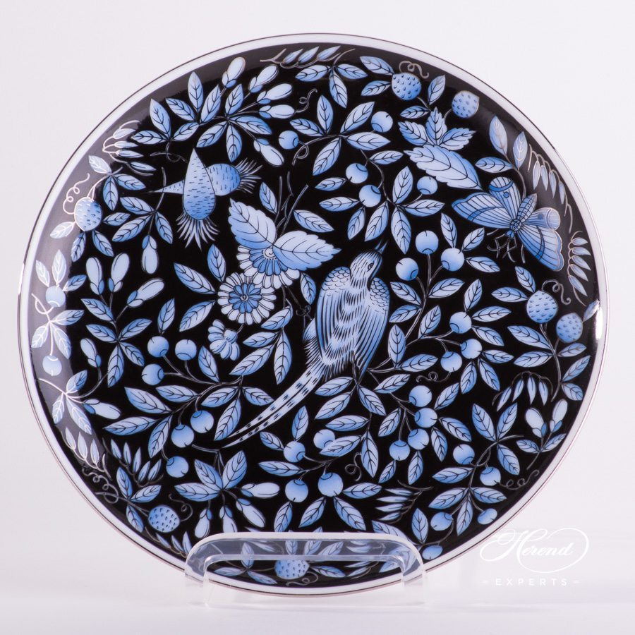 Dessert Plate 2538-0-00 ZOBA-FN-PT blue pattern - Herend porcelain hand painted.