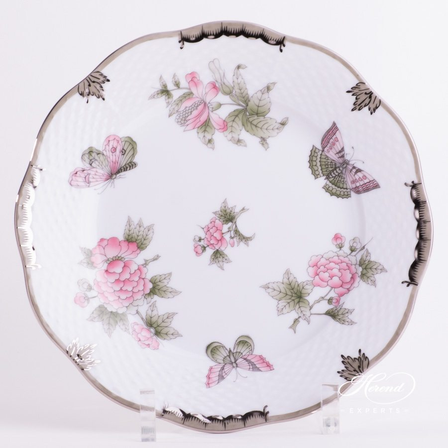 Dessert Plate 519-0-00 VBOG-X1-PT Queen Victoria Platinum design. Herend fine china hand painted. Modern style tableware