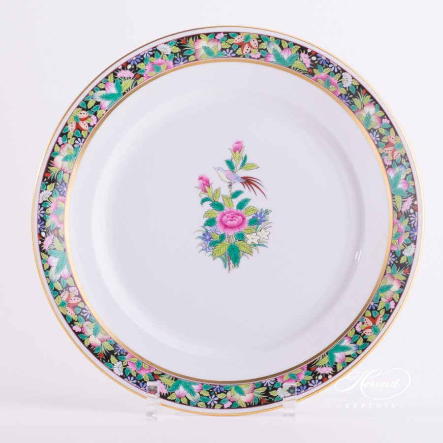 Dinner Plate 2524-0-00 ROSE-FN pattern - Herend porcelain hand painted.