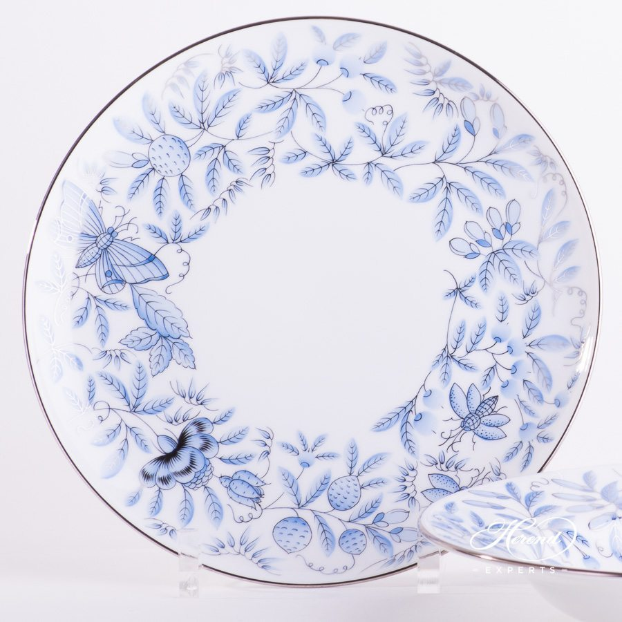 Dinner Plate 2537-0-00 ZOBAS-PT blue pattern - Herend porcelain hand painted.