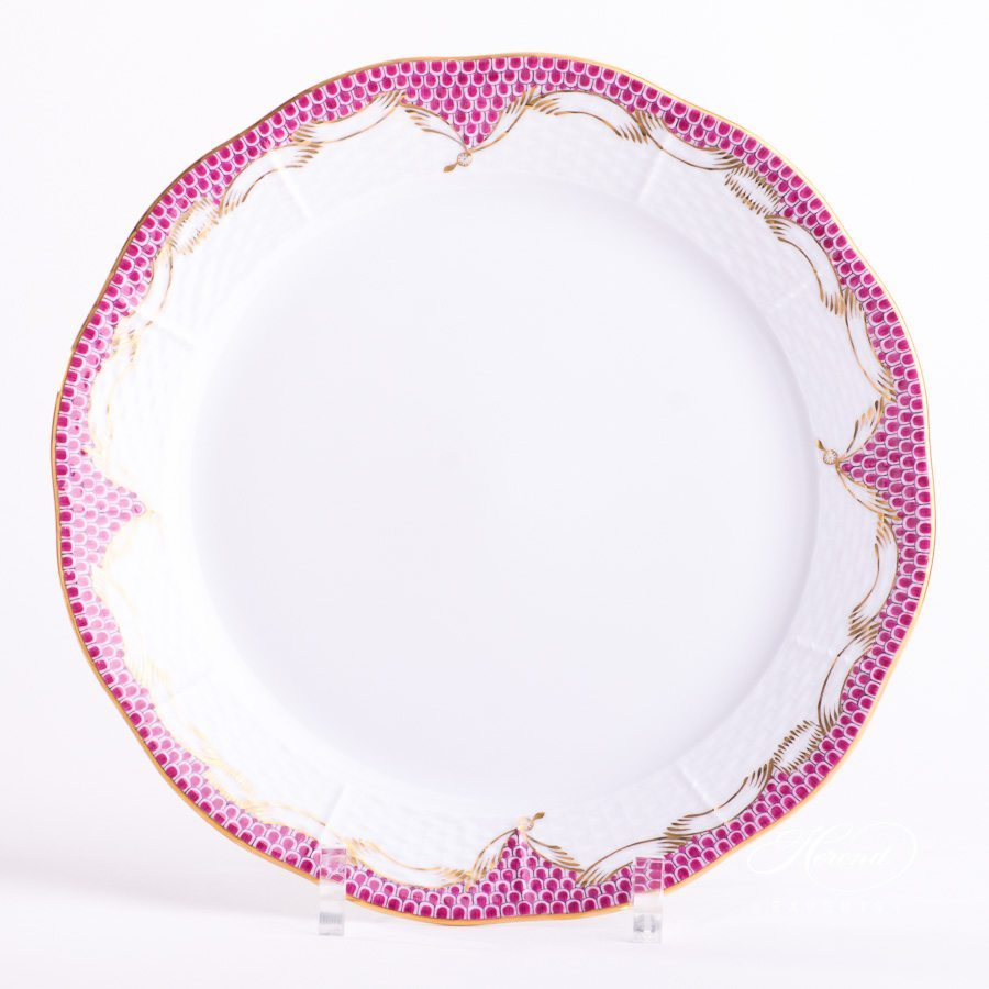 Dinner Plate 524-0-00 A-ETP Pink Fish Scale pattern - Herend porcelain hand painted.